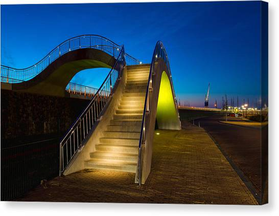 Railroads Canvas Print - Heavenly Stairs by Chad Dutson