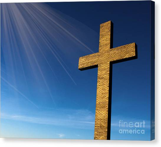 Heaven's Cross Canvas Print
