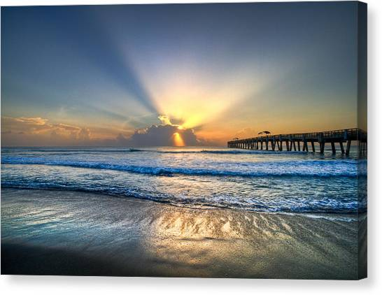 Low Tide Canvas Print - Heaven's Door by Debra and Dave Vanderlaan