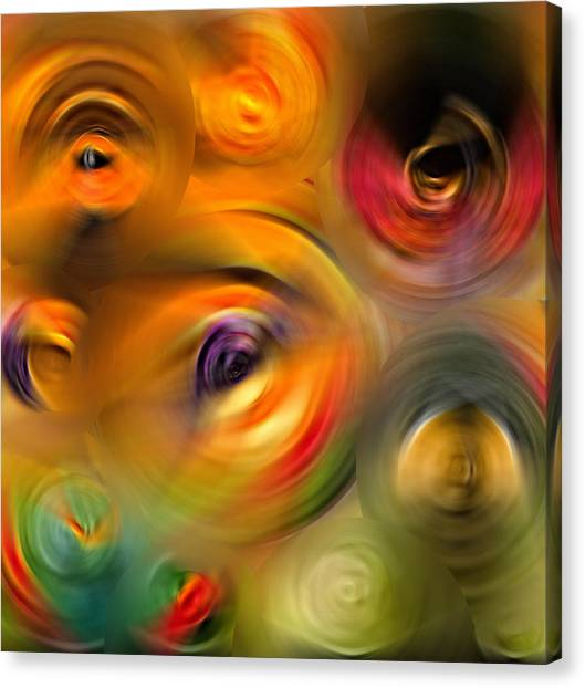 Karma Canvas Print - Heaven's Eyes - Abstract Art By Sharon Cummings by Sharon Cummings