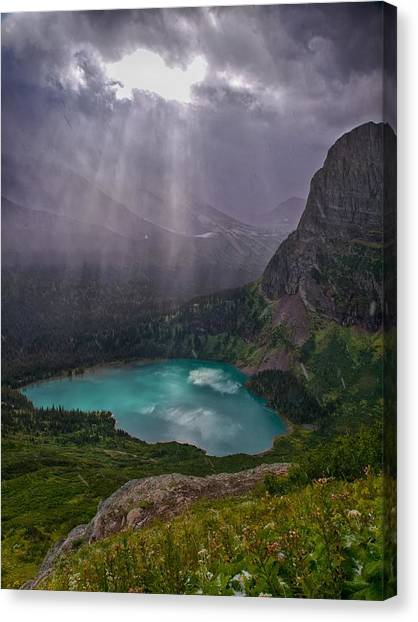 Heavens Open Canvas Print