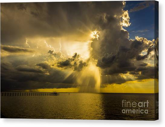Tampa Bay Rays Canvas Print - Heavens Window by Marvin Spates