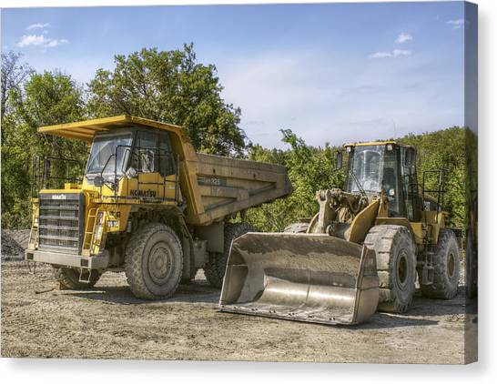 Heavy Equipment - Komatsu - Cat Canvas Print