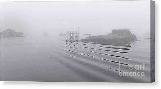Heavy Fog And Gentle Ripples Canvas Print