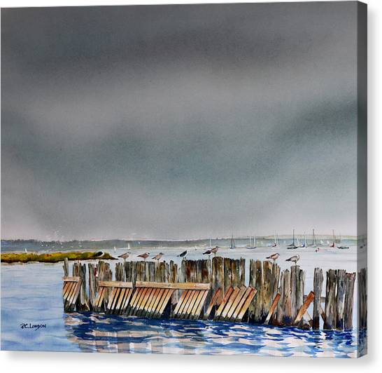 Heavy Sky In Keyport Canvas Print