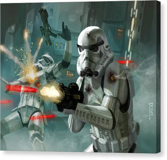 Stormtrooper Canvas Print - Heavy Storm Trooper - Star Wars The Card Game by Ryan Barger