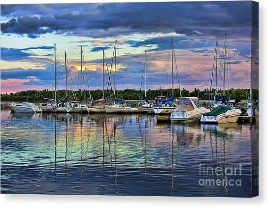 Hecla Island Boats Canvas Print