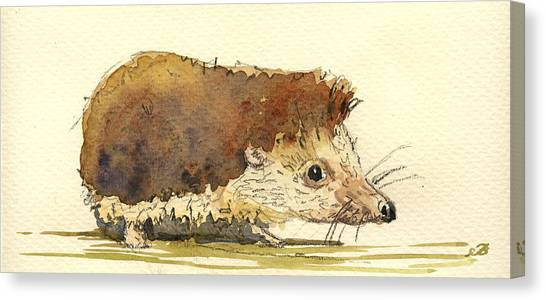 Mice Canvas Print - Hedgehog by Juan  Bosco