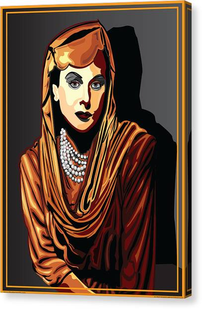 Hedy Lamarr  Hollywood The Golden Age Canvas Print by Larry Butterworth