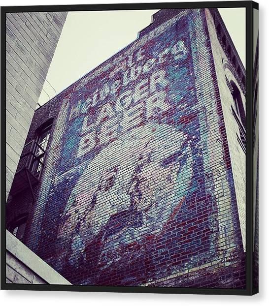 Lager Canvas Print - Heidelberg Beer Ghostsign In Portland by Jon Kraft