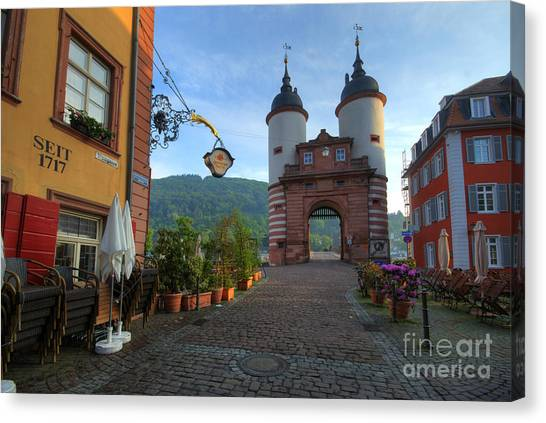 Heidelberg Brueckentor Canvas Print by Richard Fairless