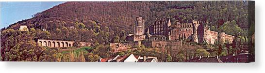 Heidelberg Castle And Arches Canvas Print by Kimo Fernandez