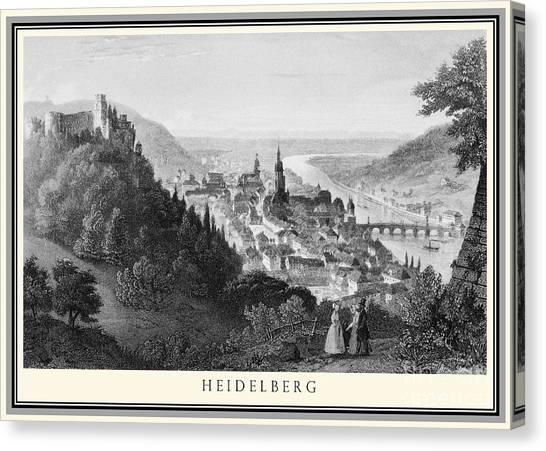 Heidelberg Etching Canvas Print