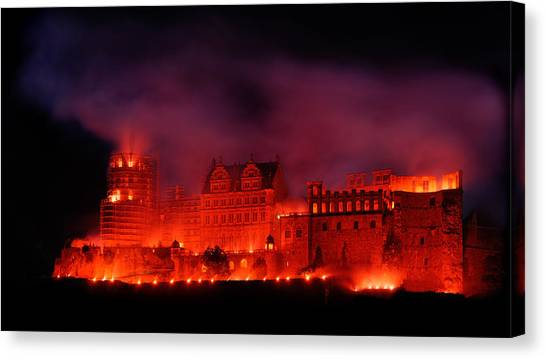 Heidelberg Red Castle Canvas Print