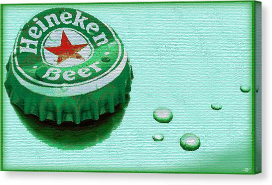 Heineken Cap Green Canvas Print