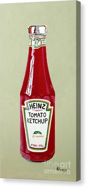 Condiments Canvas Print - Heinz Ketchup by Alacoque Doyle