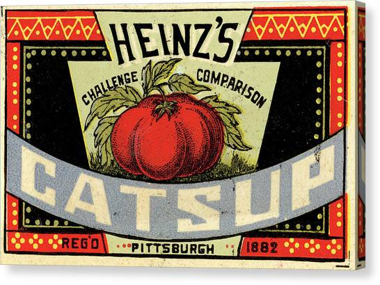 1880s Canvas Print - Heinz Ketchup by Us National Archives