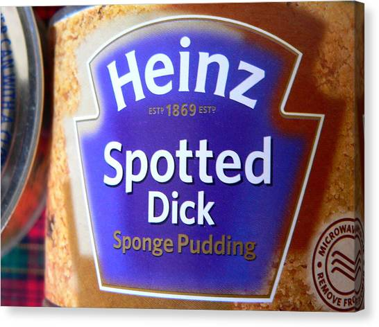 Heinz Spotted Dick Pudding Canvas Print