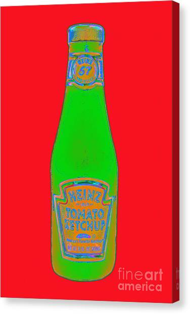 Ketchup Canvas Print - Heinz Tomato Ketchup 20130402 by Wingsdomain Art and Photography
