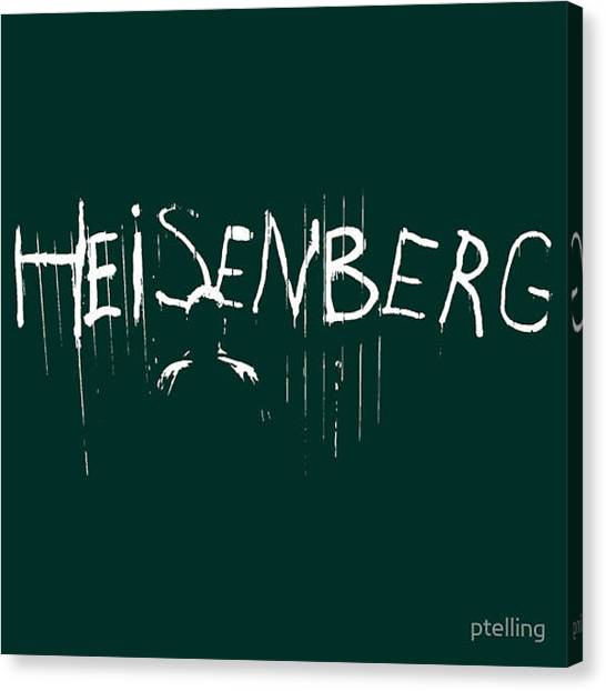 Tv Shows Canvas Print - Heisenberg by Paul Telling