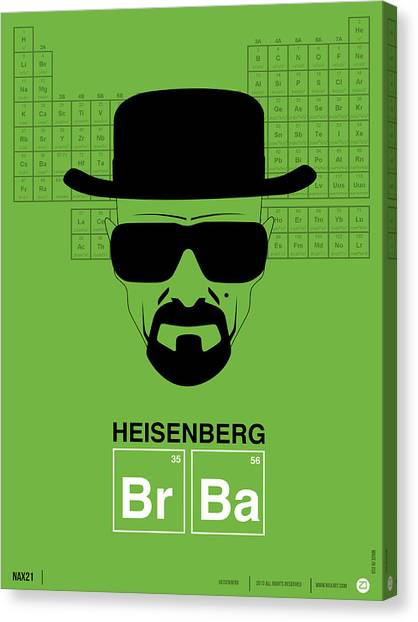 Comical Canvas Print - Heisenberg Poster 2 by Naxart Studio