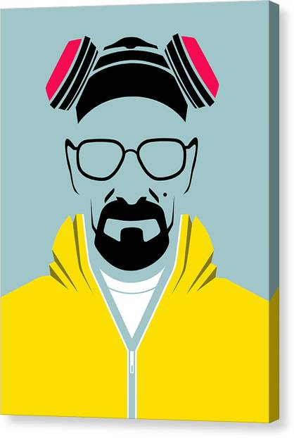 Tv Shows Canvas Print - Heisenberg Poster by Naxart Studio