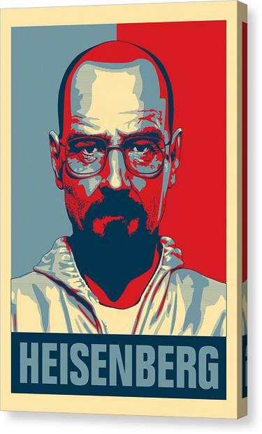 Obama Poster Canvas Print - Heisenberg by Taylan Apukovska