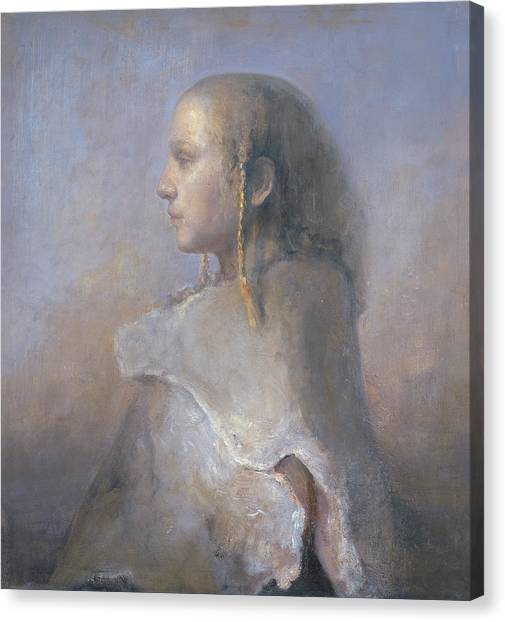 Baroque Art Canvas Print - Helene In Profile  by Odd Nerdrum