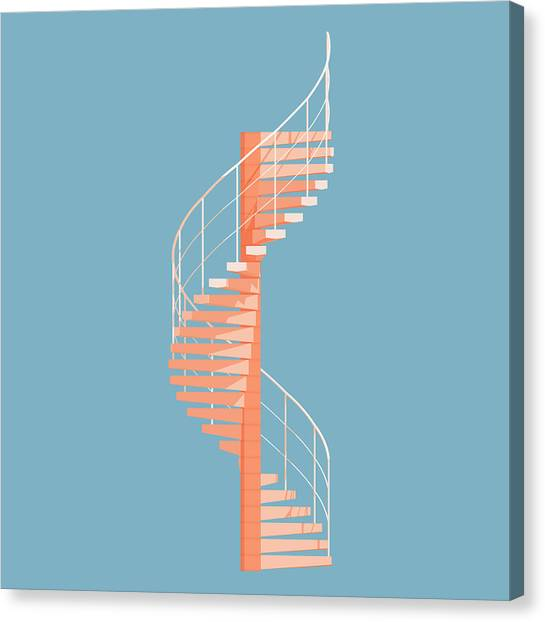 Modern Architecture Canvas Print - Helical Stairs by Peter Cassidy