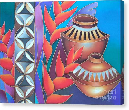 Heliconia With Pots Canvas Print
