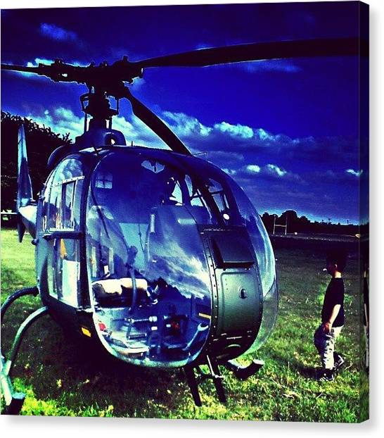Drake Canvas Print - Helicopter by Chris Drake