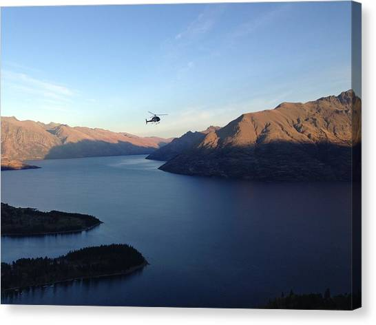 Helicopter Canvas Print by Ron Torborg