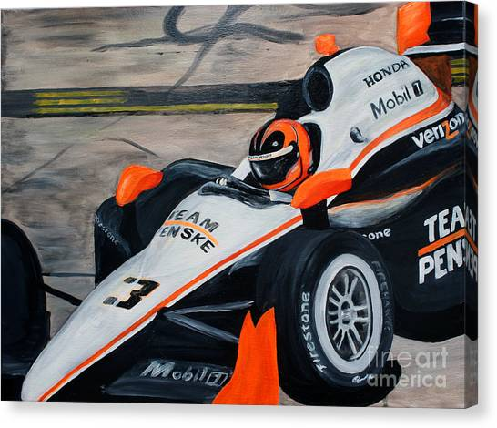 Team Penske Canvas Print - Helio #3 by Robert Schippnick