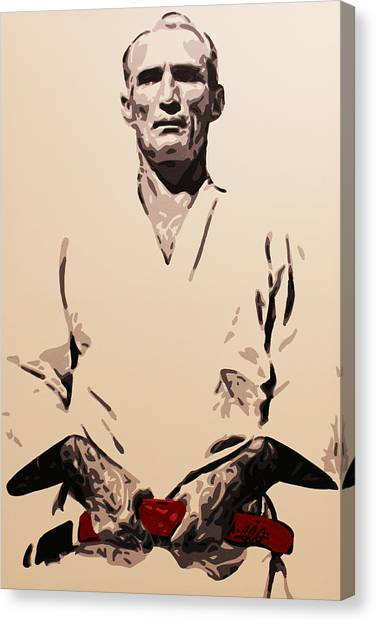 Mma Canvas Print - Helio Gracie by Geo Thomson