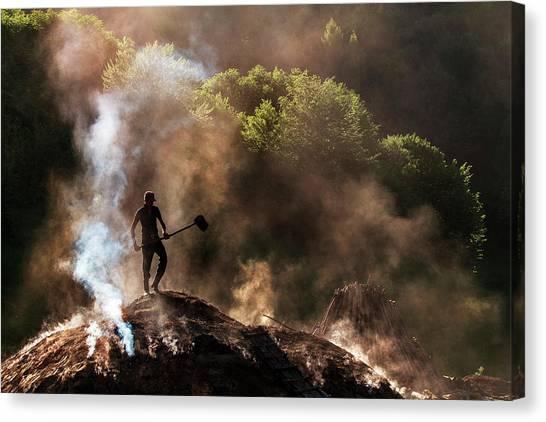 Charcoal Canvas Print - Hell Mercenaries ! by Sorin Onisor