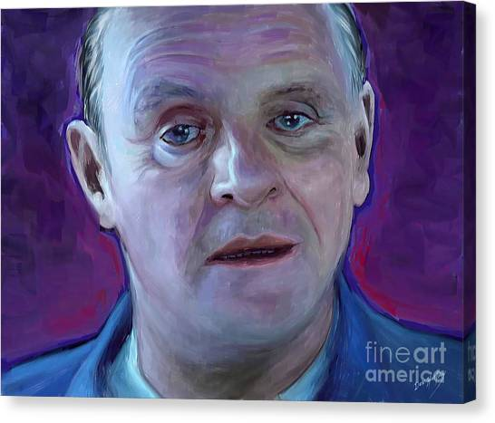 Anthony Hopkins Canvas Print - Hello Clarice by Dori Hartley