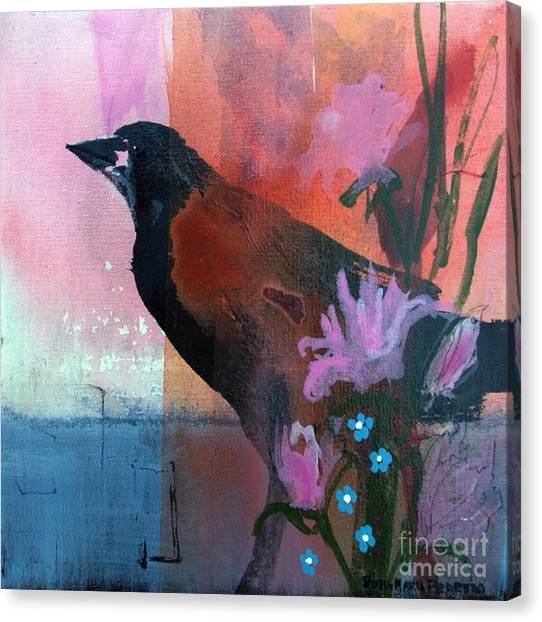 Hello Crow Canvas Print