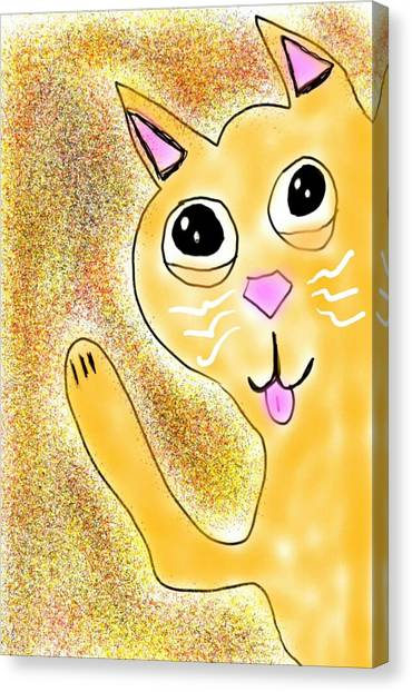 Hello Little Kitty Canvas Print