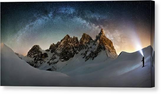 Winter Sky Canvas Print - Hello Milky Way by Dr. Nicholas Roemmelt
