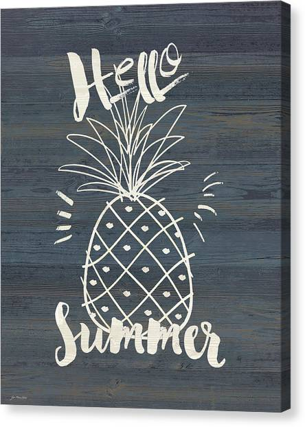 Pineapples Canvas Print - Hello Sumer by Jo Moulton