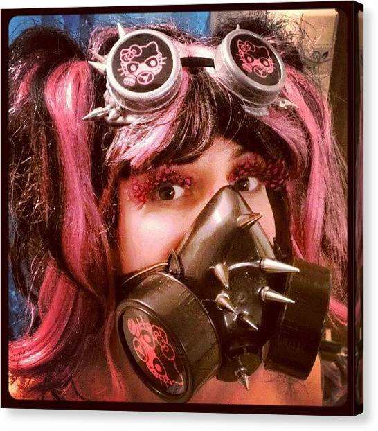 Steampunk Canvas Print - #hellokitty #gasmask #goggles #mask by Rick Kuperberg Sr