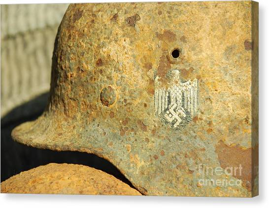 Steel Helmet Canvas Print