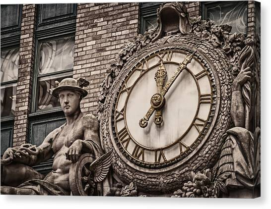 Helmsley Building Clock Canvas Print