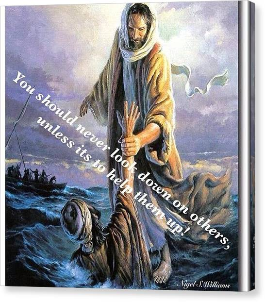 Bible Verses Canvas Print - Help Is At Hand by Nigel Williams
