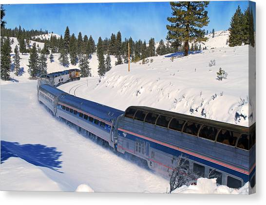 Amtrak Canvas Print - Helping Hand by Donna Kennedy