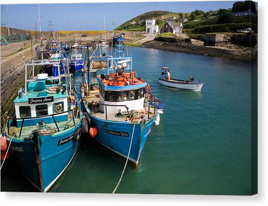 Waterford Canvas Print - Helvick Harbour, Ring Gaeltacht Region by Panoramic Images