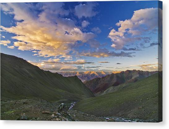 Himalayas Canvas Print - Hemis Sunset by Aaron Bedell