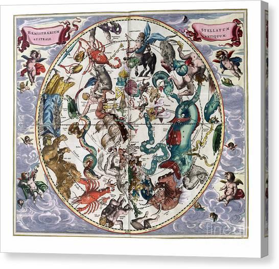 Hemispharium Astraule Canvas Print by Johannes Hevelius