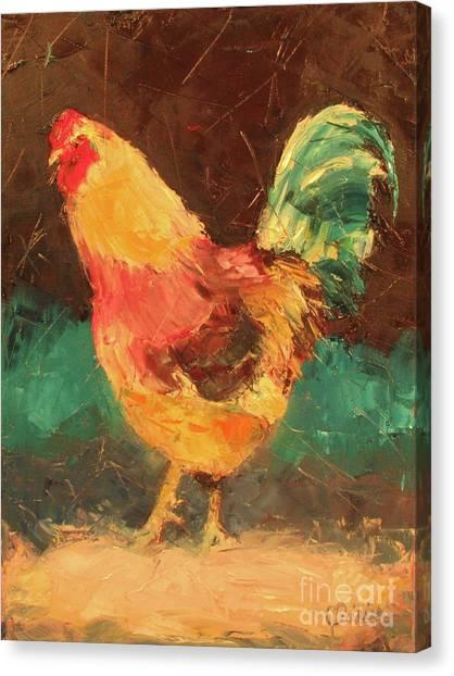 Hen In Vermont Canvas Print