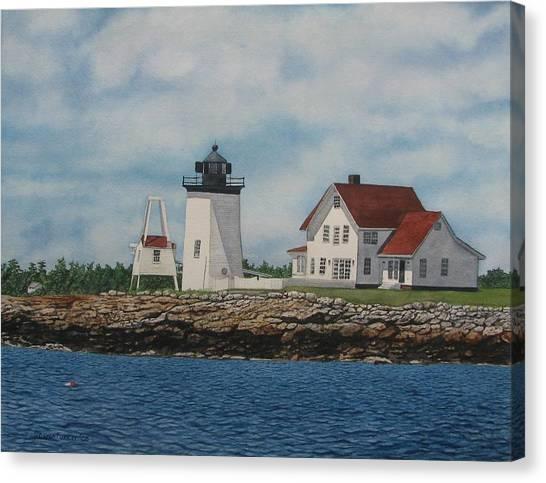 Hendricks Head Lighthouse Canvas Print by Sharon Farber